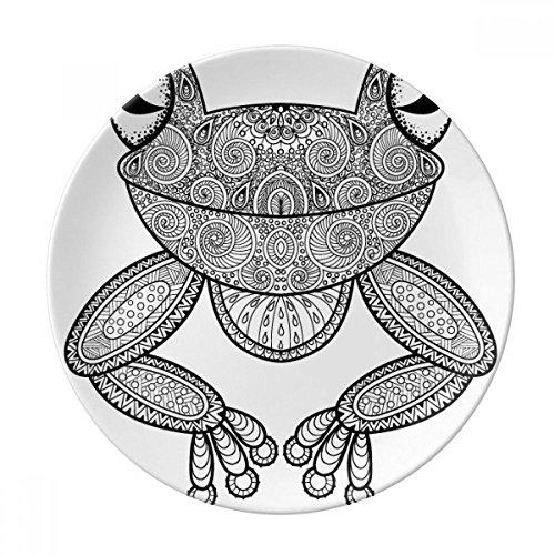 Paint Small Frog Green Dessert Plate Decorative Porcelain 8 inch Dinner ()