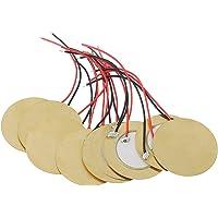 BIlinli 10pcs 35mm Piezo Pickup Amplificadores piezoeléctricos Discos