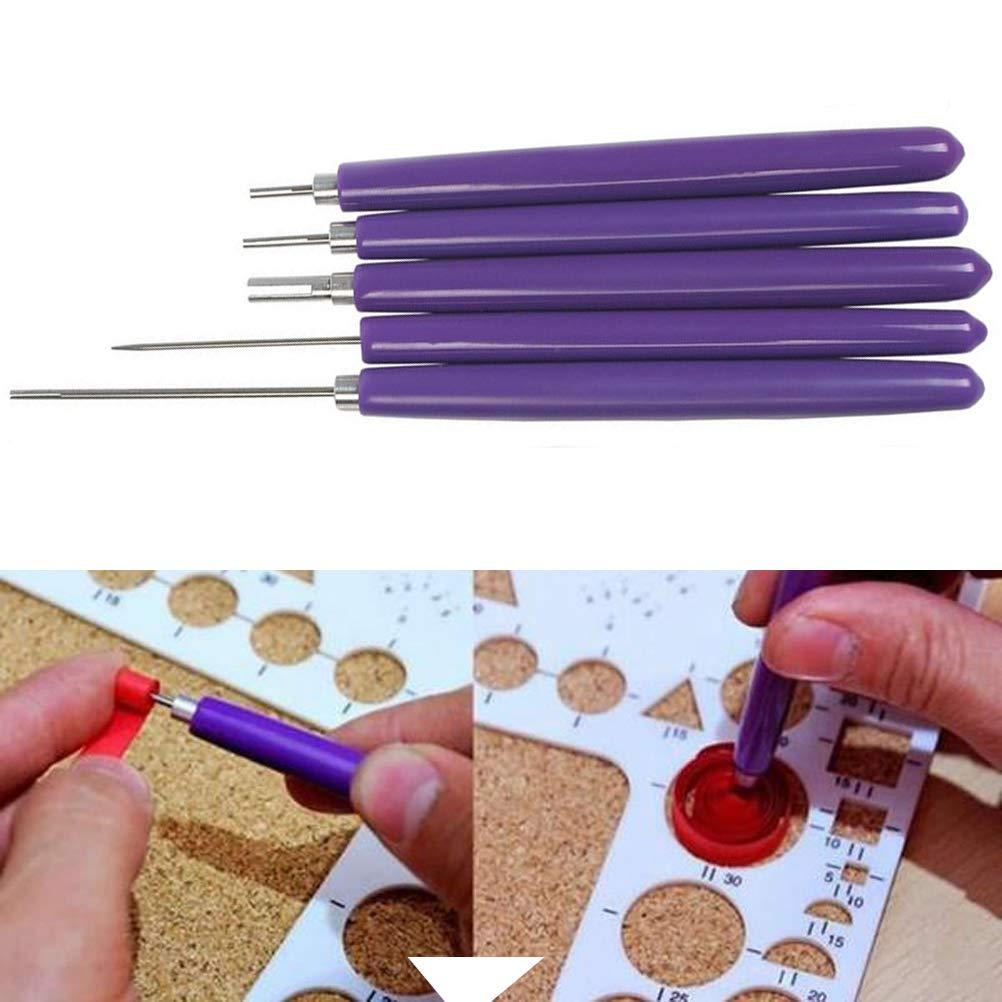 Pack de 8, color azul y rosa imisno DIY papel Quilling Juego de herramientas