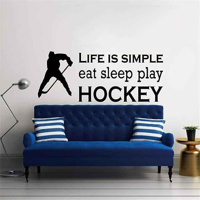 Deportes Comer Dormir Jugar Hockey Citas Tatuajes de pared ...