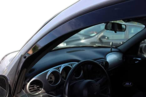 J J Automotive Windabweiser Regenabweiser Für Pt Cruiser 5 Türer 2001 2010 4tlg Heko Dunkel Auto