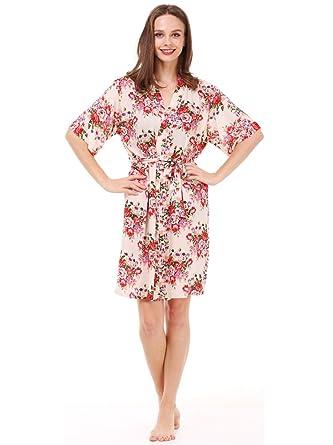 Mr & Mrs Right Women\'s Floral Cotton Kimono Robe for Bride and ...