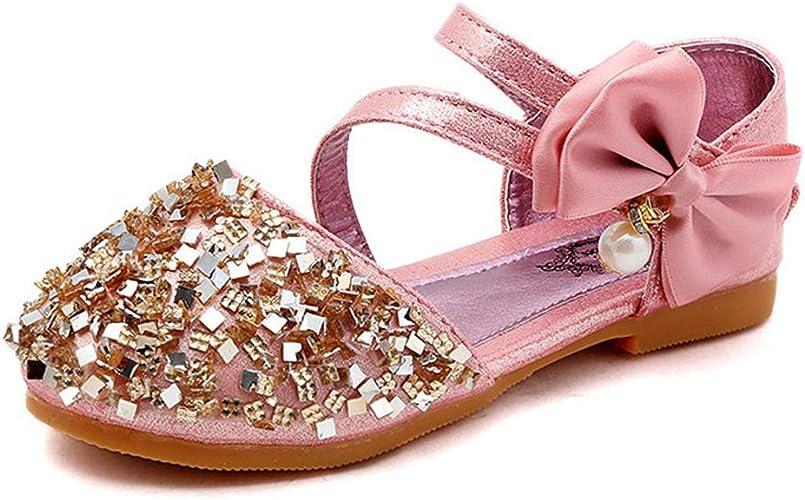 Scelet Girls Sweet Flower Mary Janes School Wearing Princess Shoes