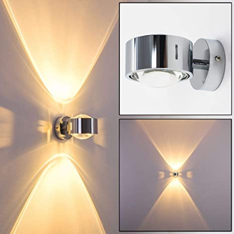 Design Küchen Flur Lampen Chrom Wandleuchte Wohn Zimmer Leuchten Up and Down