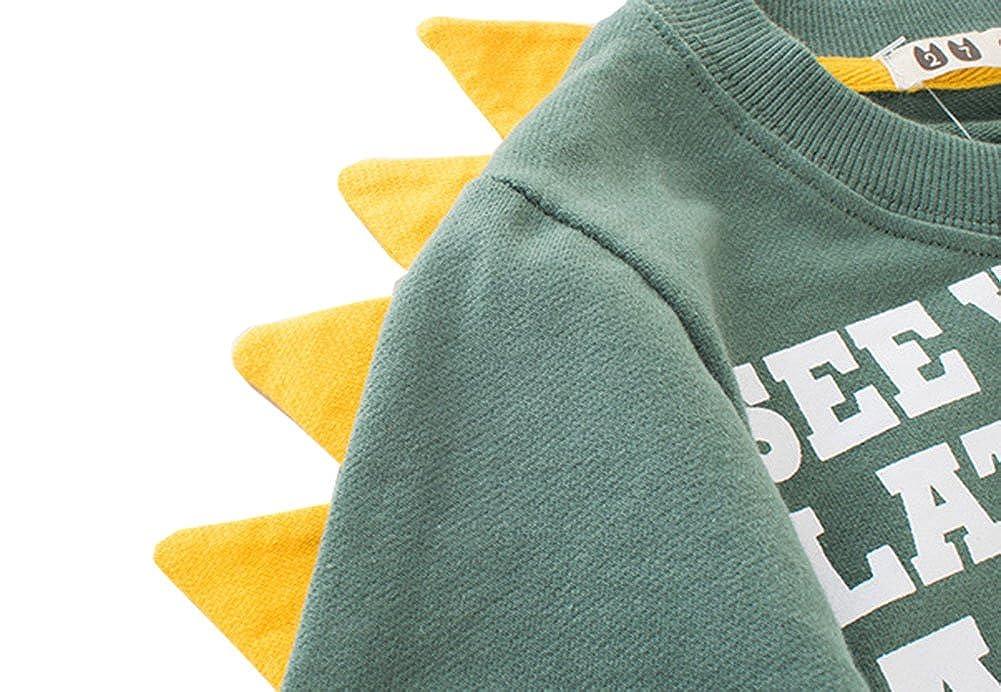 TAIYCYXGAN Toddler Kid Boys Hoodies Sweatshirts Adorable Dinosaur Pullover Sweaters Long Sleeve