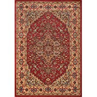 Momeni Rugs GHAZNGZ-04RED2030 Ghazni Collection, Traditional Area Rug, 2 x 3, Red