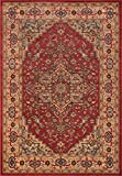Momeni Rugs GHAZNGZ-04RED2030 Ghazni Collection, Traditional Area Rug, 2′ x 3′, Red