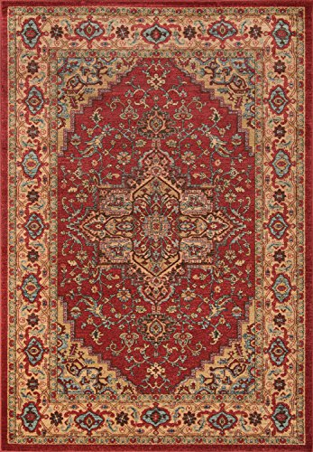 Momeni Rugs GHAZNGZ-04RED2030 Ghazni Collection, Traditional Area Rug, 2' x 3', Red