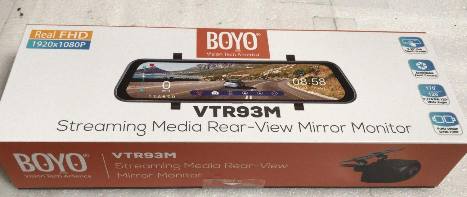 Streaming-Media Rearview Mirror Monitor with HD Cameras and DVR