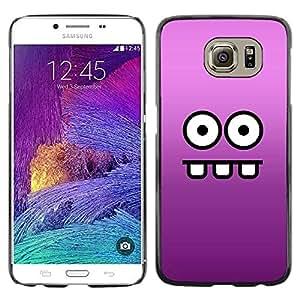 Smartphone Rígido Protección única Imagen Carcasa Funda Tapa Skin Case Para Samsung Galaxy S6 SM-G920 Funny Funny Face / STRONG