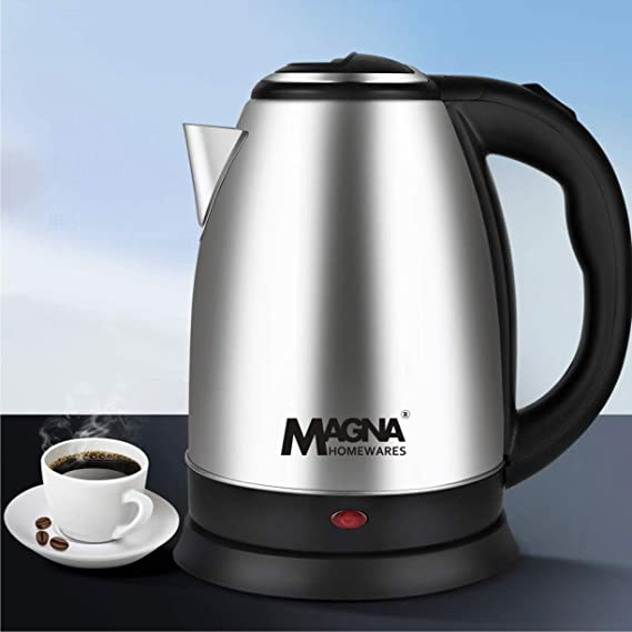 Magna Homewares MAG-1890 1.8Ltr 1500W Cordless Stainless Steel Electric Kettle Coffee, Tea & Espresso at amazon