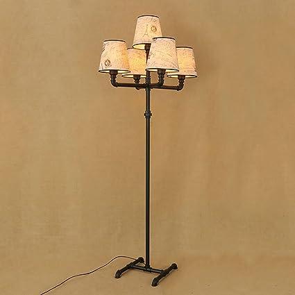 Lámpara de pie de Hierro Forjado Retro Industrial Vintage ...
