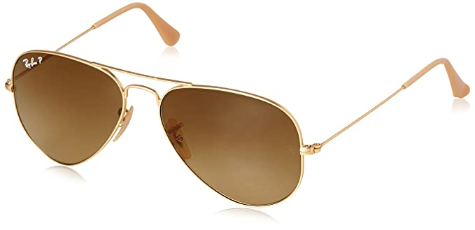 cad2c68f61 Image Unavailable. Image not available for. Color  Ray-Ban Men s  0rb3025112 m255aviator Large Metal Polarized Aviator Sunglasses MATTE GOLD  ...