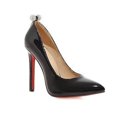 la moitié 7ec29 ebc8b YL Pumps Talons hauts femme vernis Dessous rouge Stilettos Chaussures