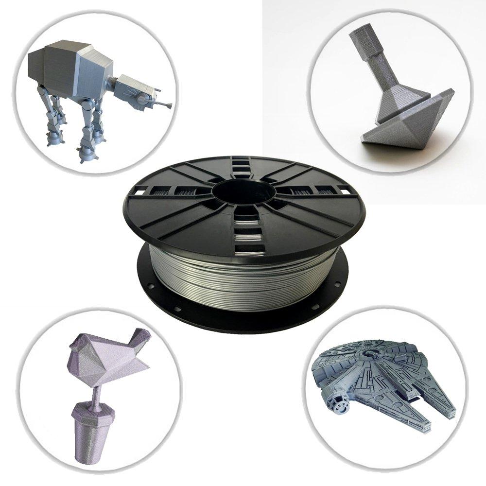 NOVAMAKER 3D ABS-1KG1.75-Grey ABS 3D Printer Filament Grey Dimensional Accuracy +//- 0.03 mm 1 kg Spool 1.75 mm