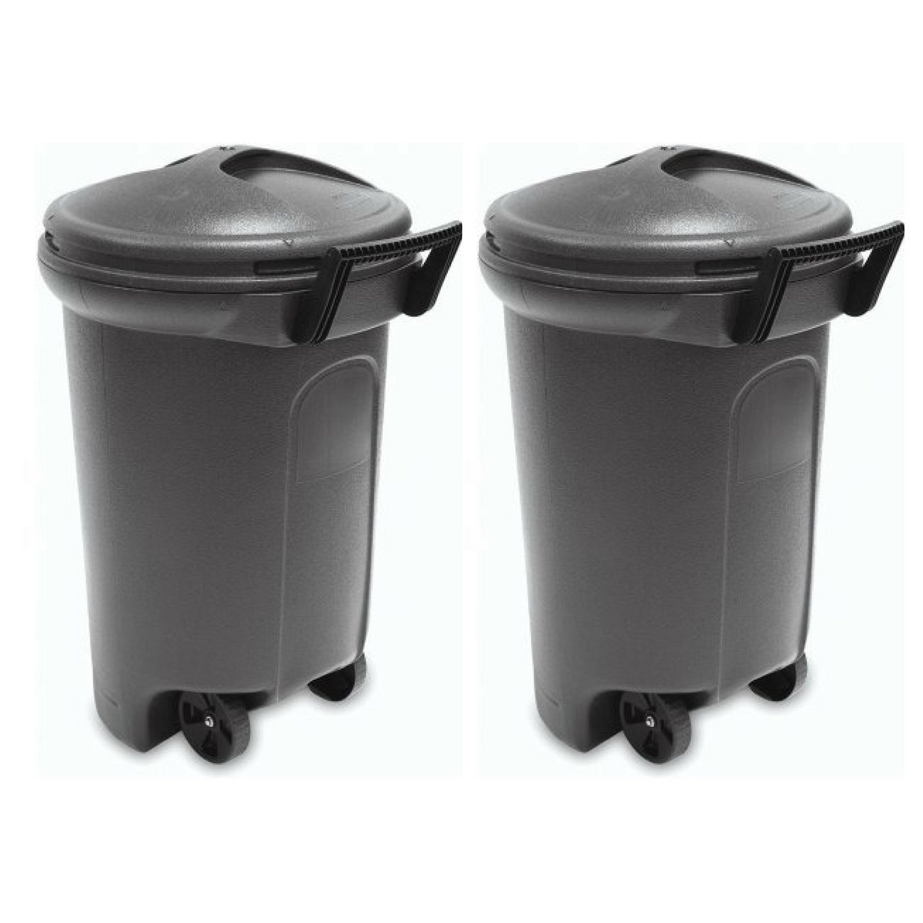 Amazoncom United Solutions Trashmaster Wheeled Trash Can With Turn
