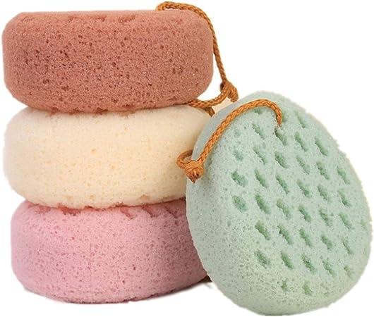 YuFLangel Esponja de Baño Esponja Suave para baño, para Hombres y Mujeres Esponja Exfoliante (Color : 4 Pack Random Color): Amazon.es: Hogar