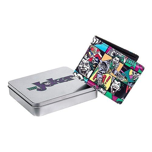 DC Comic The Joker Pop Art Portefeuille/Porte Monaie Superhéro ans Boîte En Métal (Multicolore)