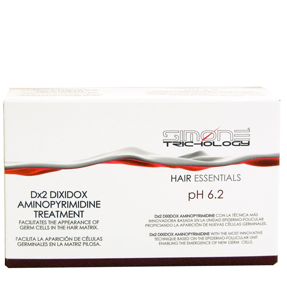 Simone Trichology Dx2 Dixidox Aminopyrimidine Treatment for Hair Loss 10 Vials