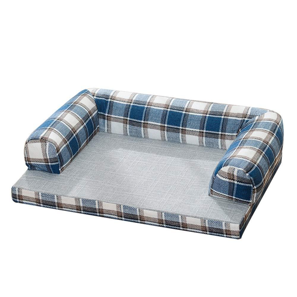 1007-L Pet Bed, Kennel Washable Large-Medium-Small Dog Sofa Bed Summer Cat Mat Four Seasons Universal (color   1007-L)