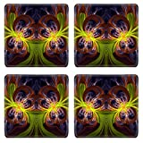 MSD Square Coasters Non-Slip Natural Rubber Desk Coasters design 28849142 Computer generated fractal artwork for design art and entertainment