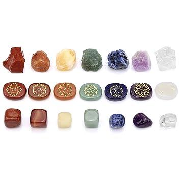 Amazon.com: CrystalTears - Kit de 7 cristales de curación de ...