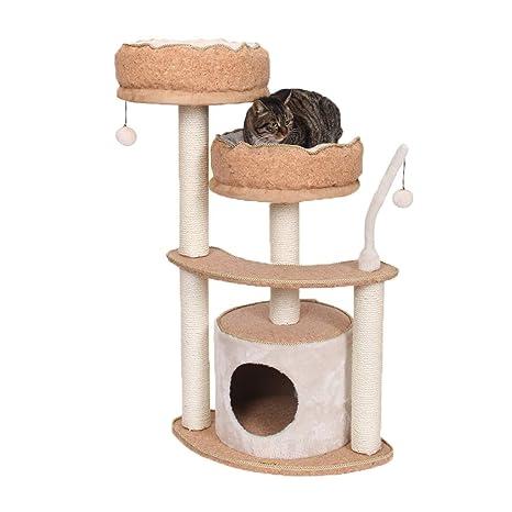 GCHOME Árbol de Gato Estructura de Escalada para Gatos, Tela de Corcho Sisal Torre de