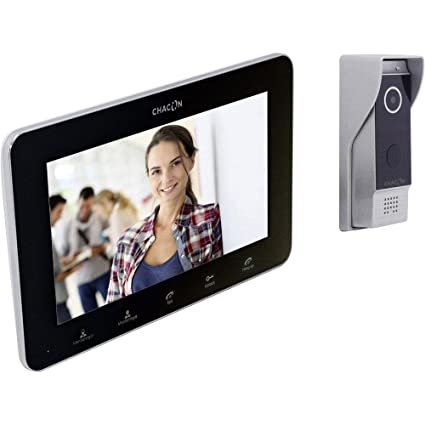 Chacon 34889 - Teléfono de video gatekeeper ip con pantalla en negro
