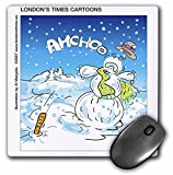 Londons Times Funny Holidays Cartoons - Snowman Sneeze - MousePad (mp_3428_1)
