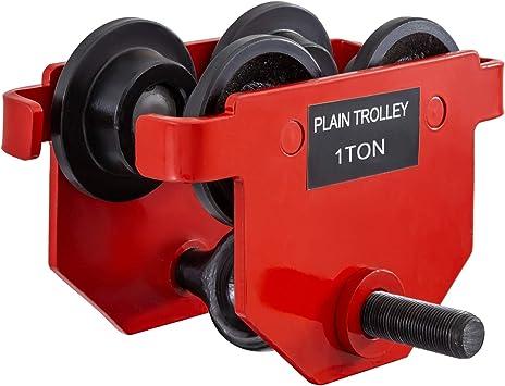 Manual Trolley Heavy Duty 0.5 Ton Capacity Plain Trolley 1000LBS Push Beam Track