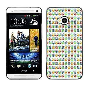 ZECASE Funda Carcasa Tapa Case Cover Para HTC One M7 No.0000058