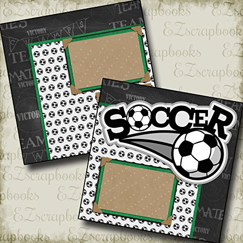 SOCCER - Premade Scrapbook Pages - EZ Layout (Soccer Scrapbook Page)