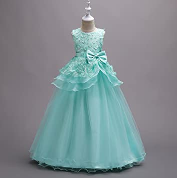 Vestido de niño Vestido de fiesta de cumpleaños infantil Vestido de dama de honor rosa /