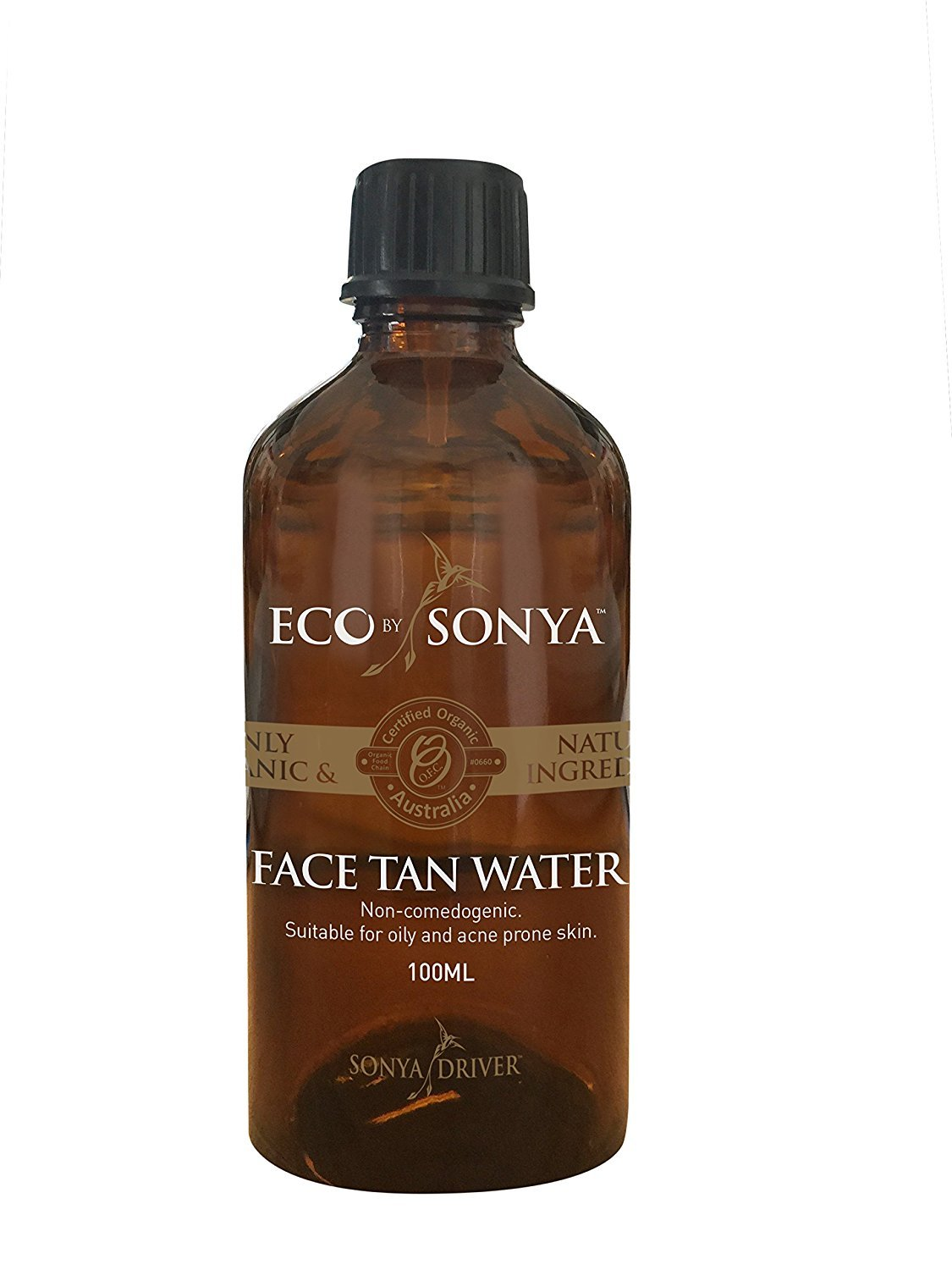Eco by Sonya Eco Tan, Organic Face Tan Water Suitable for Oily & Acne-Prone Skin, 3.381 FL. OZ (100 ML) Ecotan Face Tan Water