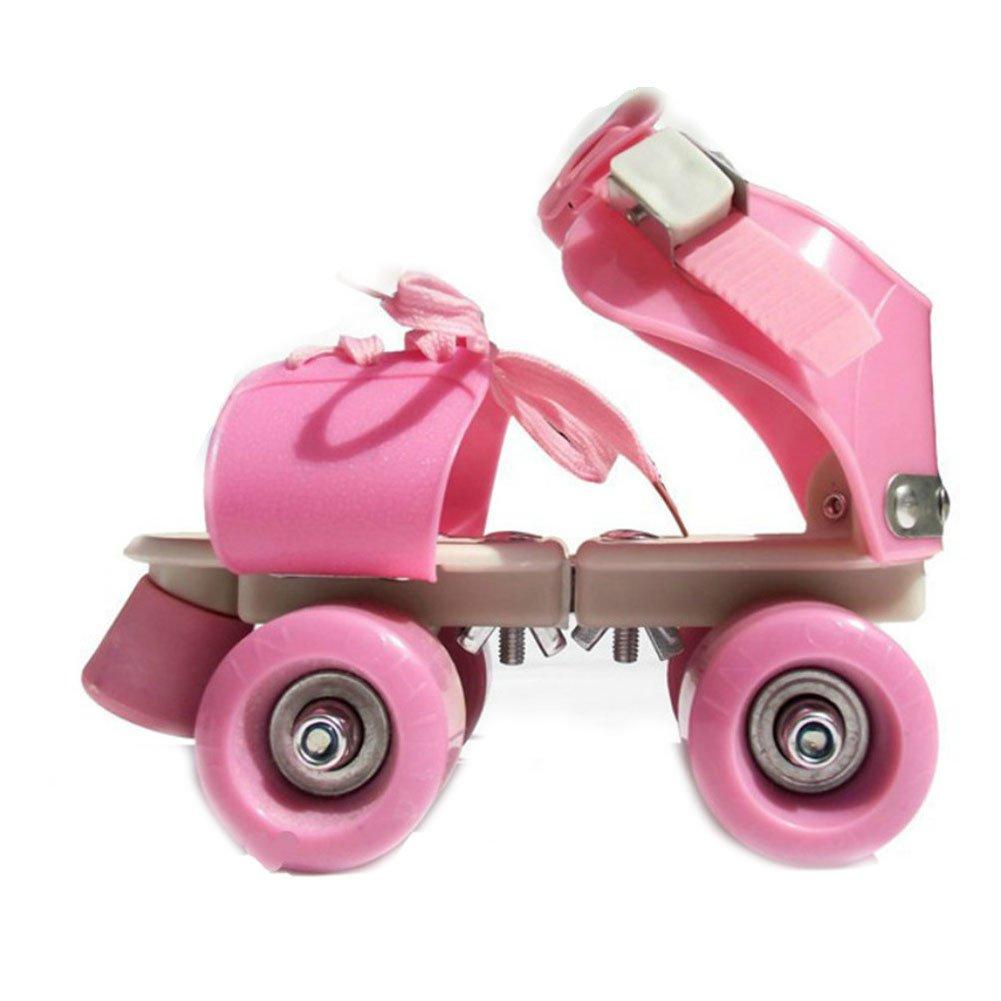 Children Roller Skates Double Row 4 Wheel Skating Shoes Adjustable Size Sliding Slalom Inline Skates