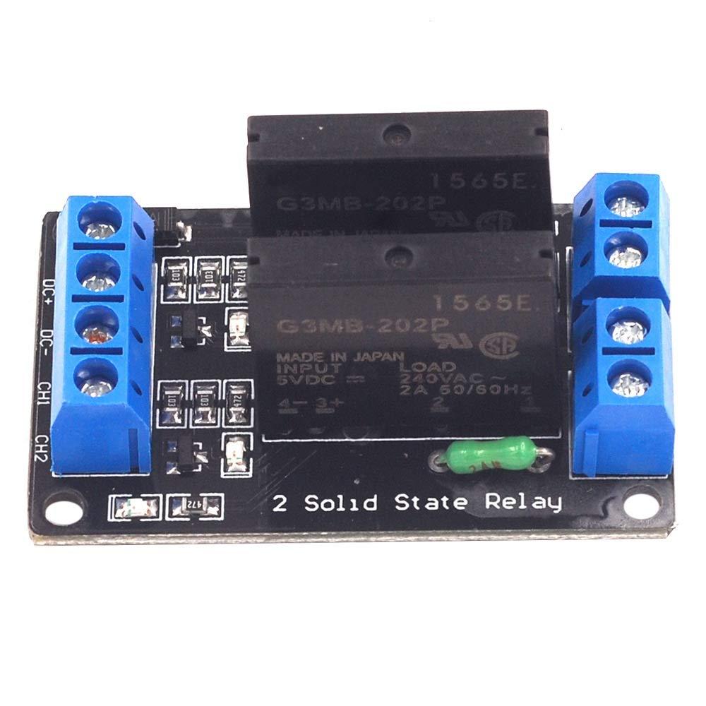 Módulo de control 2 vías de 5V 2A 250V Relé de estado sólido del ...