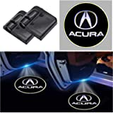 2Pcs For Acura Wireless Car Door Logo Light LED HD Welcome Courtesy Ghost Shadow Projector Lamp Fit for Acura Cars