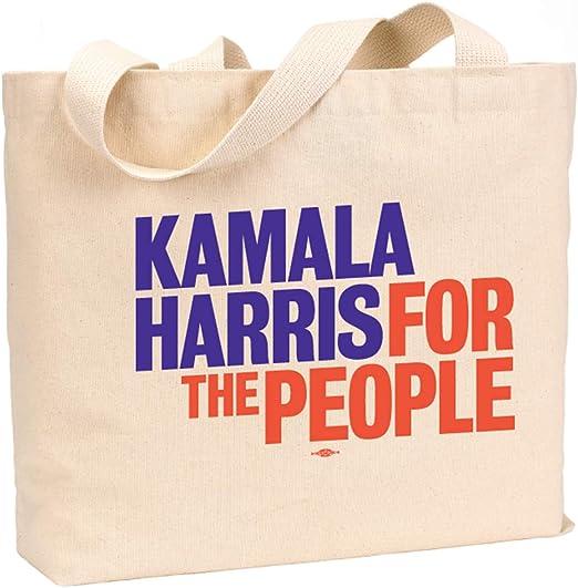 Kamala Harris For The People - Bolsa de lona de algodón natural ...