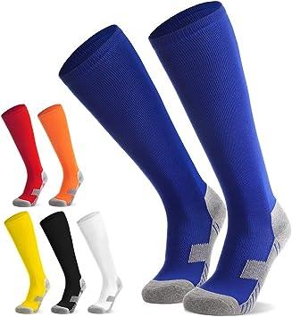 Sportsocken Trainingssocke FußballLaufenTraining6 Strümpfe Fußball Stutzen für Kinder Jugendliche Sockenstutzen Farben Socken Fußballsocken shQdCrxt
