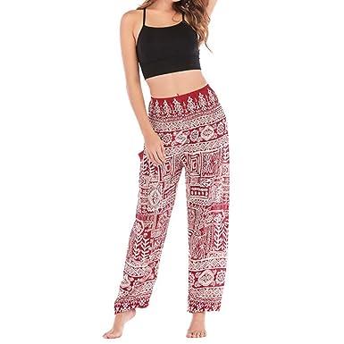 QIYUN.Z Pantalones de Pilates de Yoga para Hombre con patrón ...