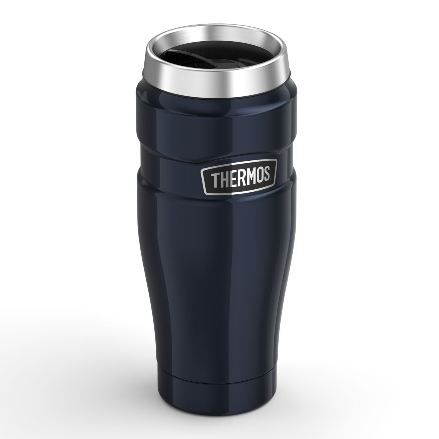 Thermos Stainless King 16-Ounce Travel Tumbler, Midnight Blue