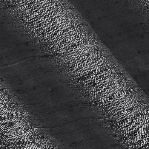 Angus International Dupioni Silk Fabric Iridescent, Platinum