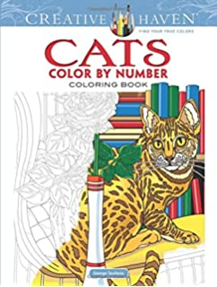 Amazon Com Kittens And Cats Color By Numbers Coloring Book For