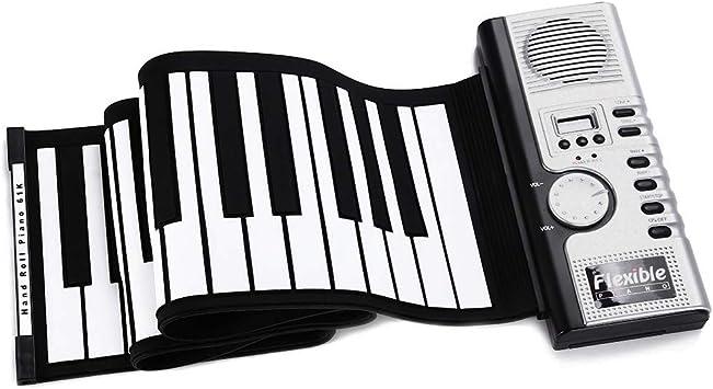 Haolv Teclado Enrollable Piano Flexible 61 Teclas Silicona ...