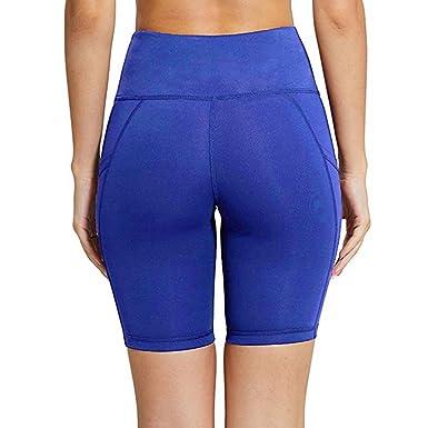 Leggings Deporte Mujer Mallas Fitness Bolsillo de Costura Mujer Polaina Gym Mujer Pantalon Yoga Sexy Polainas Leggings EláSticos de Piratas de Running ...