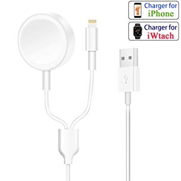 Compatible con Apple Watch y iPhone cargador Cable 2 en 1 ...