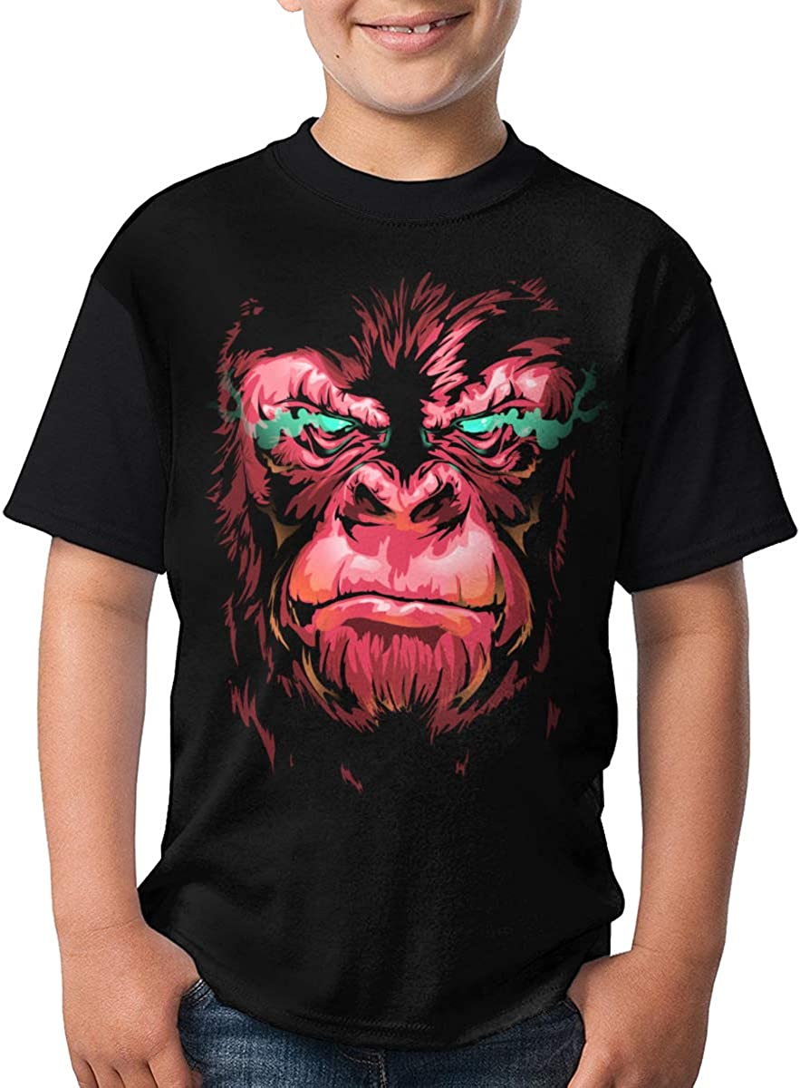 Kids Youth Gorilla Workout Customized O-Neck T-Shirt Tee for Boys Black