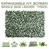 ColourTree Expandable Faux Artificial Ivy Trellis Fence Screen Privacy Screen Wal Screen - Commercial Grade 150 GSM - Heavy Duty - 3 Years Warranty (4, Single Sided Leaves)