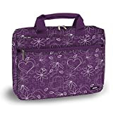J World RESEARCH 15.4'' Laptop Briefcase in Love Purple