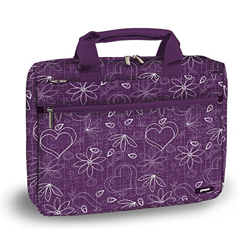 J World RESEARCH 15.4'' Laptop Briefcase in Love Purple by J World New York
